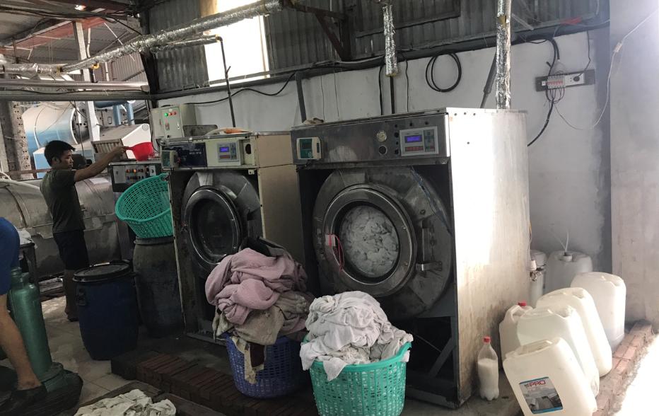 máy giặt sấy công nghiệp cho xưởng giặt là